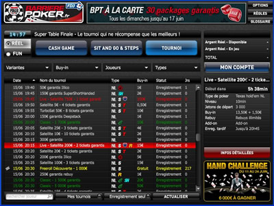 Logiciel Barri�re Poker FDJ