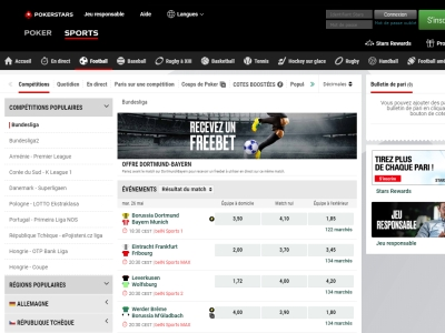 Paris Sportifs PokerStars Sports