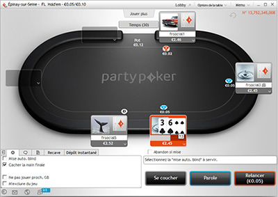 Logiciel Party Poker